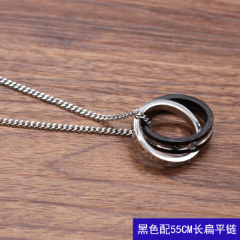 Stylish guy's cool men's ring necklace
