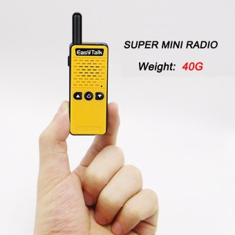 Super Mini Two Way Radio EasyTalk ET-M2 16 channel UHF 400-520MHz(2 pack, Yellow) - intl