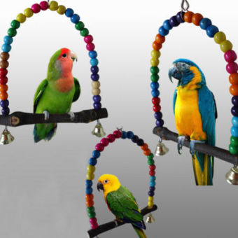 Swing Bird Toy Parrot Cage Toys Finch Parakeet Cockatiel PetSupplier Price Philippines