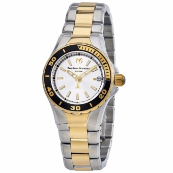 TechnoMarine Sea Manta Silver Dial Two-Tone Silver / Gold Stainless Steel Women's Watch 215008
