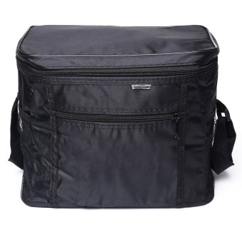 Thermal Outdoor Cooler Lunch Box Insulated Picnic Bag Camping Hiking Portable Black