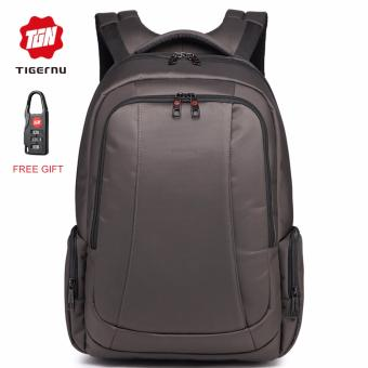 Tigernu Waterproof Nylon Anti-theft Travel Business Backpack for 12.1-15.6 Inches Laptop(Coffee) - Intl