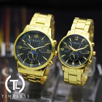 Timeless Manila Bailey Couple Gold Metal Watch