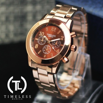 Timeless Manila Caitlyn Chrono Metal Watch (Bronze)