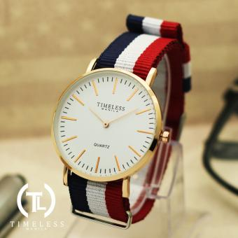 Timeless Manila Carl Nylon Adjustable Watch (Red/White/Blue)