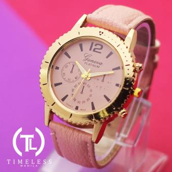 Timeless Manila Jennifer Chrono Leather Watch (Old Rose)