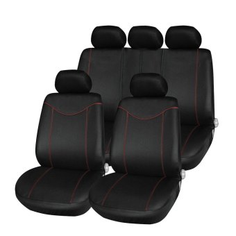 Tirol 9 Set Full Seat Covers for Car Crossovers High QualityUniversal Protect Car Seat Cover Sedans Auto Interior StylingDecoration(Black) - intl