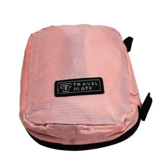 Travel Mate Toiletry Kit Organizer (Peach) with Free Digital GadgetDevices Cable Pouch (Color may vary)