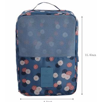 Travel Shoes Organizer Storage Bag Three Layers Waterproof(DaisyBlue)