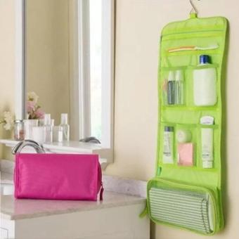 Travel Toiletry Hanging Wash Makeup Cosmetic Organizer (Green)