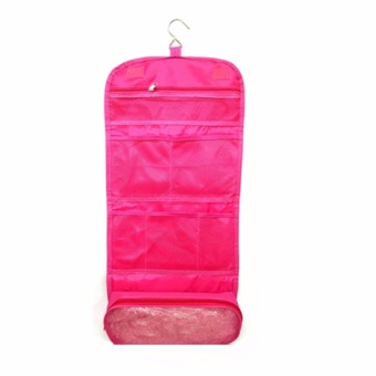 Travel Toiletry Hanging Wash Makeup Cosmetic Organizer (Pink)