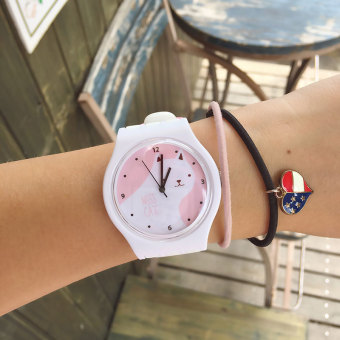 Ulzzang Japanese-style New style soft contrasting color watch