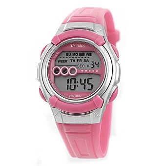 UniSilver TIME Gidget Children's Pink / Silver Digital Rubber Strap Watch KW2214-2002