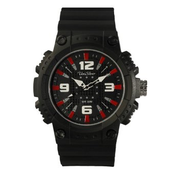 UniSilver TIME Gizmatics Men's Black / Red / White Analog Rubber Watch KW1616-1003