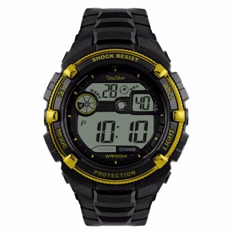 UniSilver TIME J-Drive Men's Black Digital Rubber Watch KW1415-1002