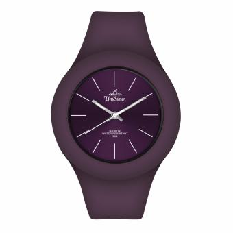 UniSilver TIME Jelly Elite Unisex's Pale Violet Rubber Analog Watch KW1066-2012