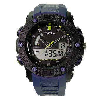 UniSilver TIME Radler Men's Blue / BlackAnalog-Digital Rubber Watch KW2026-1001