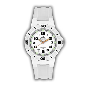 UniSilver TIME Women's Transparent White Rubber Watch KW209-1262