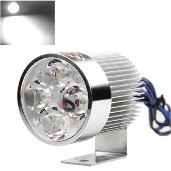 Universal Silver Electric Motor Bike Motorcycle 18W 6 LED Headlight Work Head Light Driving Fog Spot Night Lamp