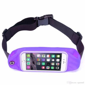 Universal Water Resistant Sport Gym Running Belt, Outdoor RunningSport Waist Bag for iPhone 7 Plus or 5.5 inch Smart Phone (Violet)