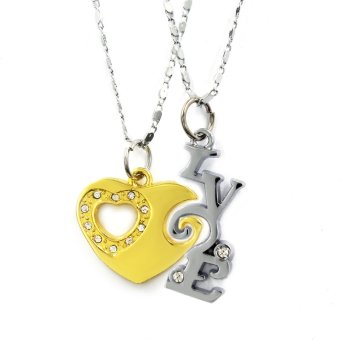 Venice Couple Necklace Love 04 (Gold/Silver)