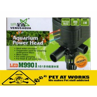 Venus Aqua LED M9901 8w (800L/H) with LED Light 3in1 SubmersibleWater Pump for Fish Tank Aquarium, Planted Tank and Marine Tank
