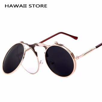 VINTAGE STEAMPUNK Sunglasses round Designer steam punk Metal WomenCoating Sunglasses Men Retro CIRCLE SUN GLASSES - Intl Price Philippines