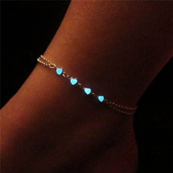Vogue Glow In The Dark Chain Anklet Ankle Bracelet Barefoot Sandal Beach Jewelry Multi - intl