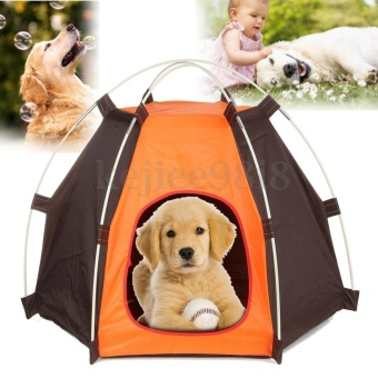 Washable Folding Outdoor Home Pet Play House Cat Dog Soft Bed PuppyKennel Tent - intl