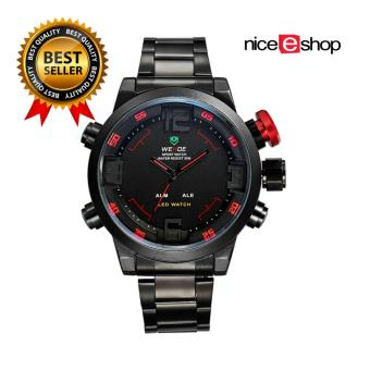 WEIDE Mens Dual Time Display Sports Wrist Watches(Black&Red) - Intl Price Philippines
