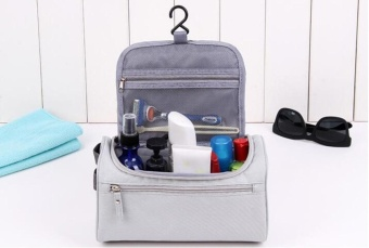 Women Men Waterproof Travel Cosmetic Bag Hanging Trunk Makeup CaseZipper Trunk Make Up Bag Organizer Storage Pouch Toiletry Bag -intl