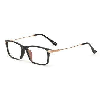 Women's Eyewear Fashion Rectangle Glasses Black Frame Glasses Plain for Myopia Women Eyeglasses Optical Frame Glasses