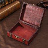 Wood Storage Box 13cm*11cm*5.4cm Retro Antique Decorative Gift Box Double Belt Wooden Jewelry Storage Organizer Copper Nails - intl - 3