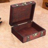 Wood Storage Box 13cm*11cm*5.4cm Retro Antique Decorative Gift Box Double Belt Wooden Jewelry Storage Organizer Copper Nails - intl - 5
