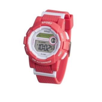 XINJIA Water Resistant Sports Digital Wrist Watch 867 Red