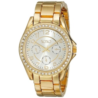 XOXO Women's Rhinestone-Accented Gold-Tone Watch XO178