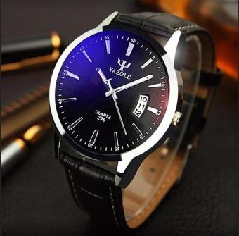 ... YAZOLE Quality Brand Watch Jam Tangan Men Watch Jam Tangan es Male  Clock Leather Strap Quartz 0cc909ce0b
