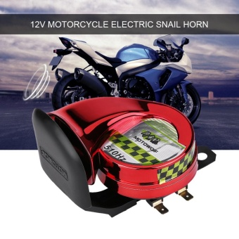 YOSOO 12V Universal Loud Electric Snail Horn for Motorcycle Red - intl