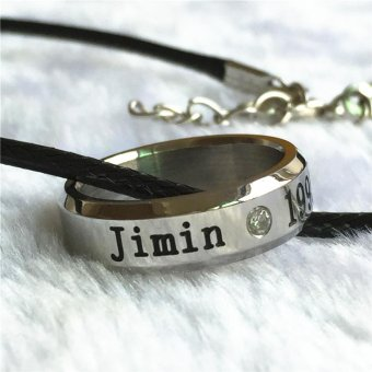Youpop K-POP BTS Bangtan Boys Wings Album Jimin Rope RingAccessories KPOP Jewelry Rings With Lanyard - intl Price Philippines