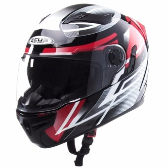 Zeus Full-Face ZS-813 Graphics Helmet (AN1 Black/Red)