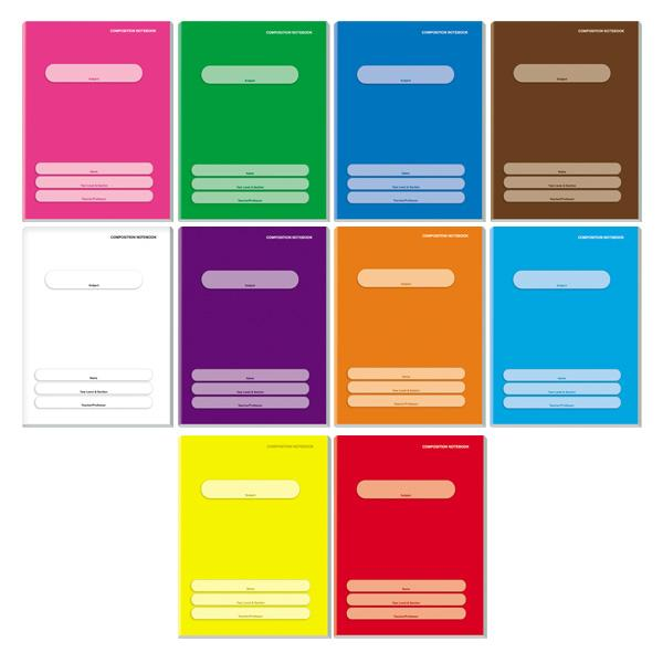 Image of Orions Color Coding Composition Notebook Set of 10
