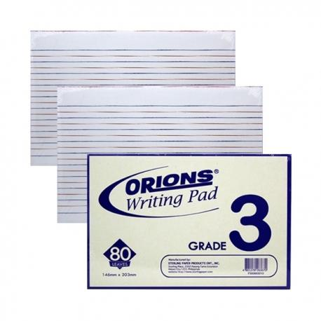 Image of Orions Writing Pad Grade 3 3/Pac