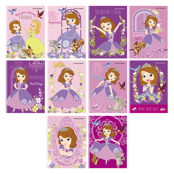 Image of Orions Sofia the First Writing Notebook Set of 10
