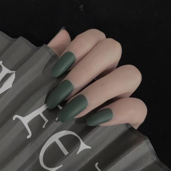 Với keo 24 móng tay giả có keo sẵn ballet bộ móng tay giả nail art frosted móng giả móng tay giả nail patch giá rẻ