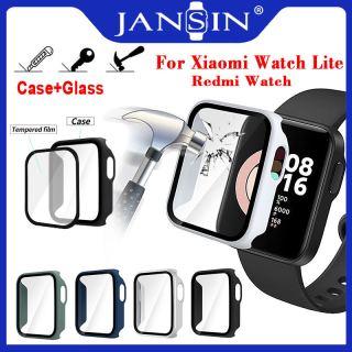 Kính + Vỏ bảo vệ cho Đồng hồ thông minh Xiaomi Mi Watch Lite Redmi Bảo vệ toàn màn hình Ốp lưng PC Vỏ cứng với Bảo vệ màn hình bằng kính thumbnail