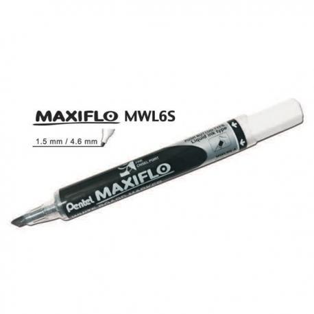 Image of Pentel Maxiflo MWL6S Whiteboard Marker Blue