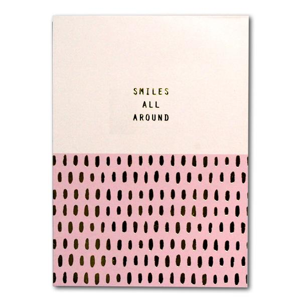 "Image of Sterling 5"" x 7"" PaperTrends Note Pad Diagonal - Smiles All Around"