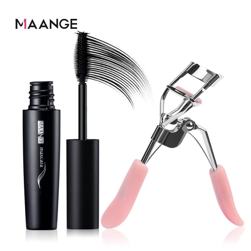 Bộ trang điểm MAANGE gồm Mascara và kẹp bấm mi làm dày dài mi không thấm nước lâu trôi - INTL