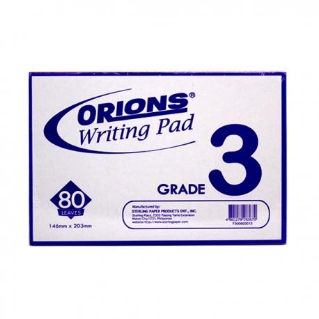 Image of Orions Writing Pad Grade 3 Solo