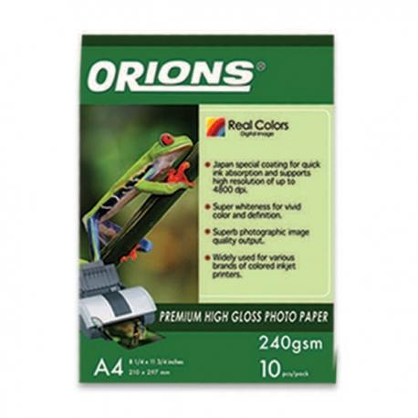 Image of Orions Photo Paper A4 Premium High Gloss 240gsm